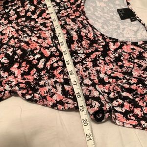 ASOS Curve Dresses - ASOS Curve Pink and Black Cinched Waist Dress